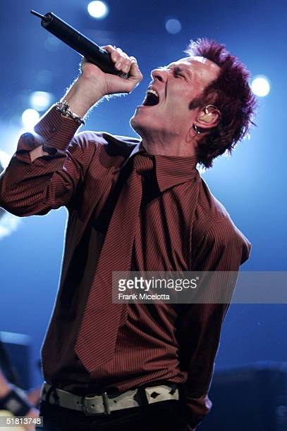 Singer Scott Weiland of Velvet Revolver performs on stage during the VH1 Big in 04 at the Shrine Auditorium on December 1 2004 in Los Angeles...