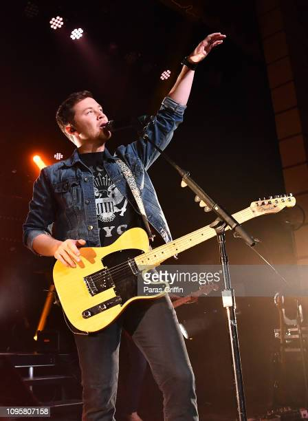 Singer Scotty McCreery perform onstage during his Seasons Change Tour at The Buckhead Theater on January 17 2019 in Atlanta Georgia