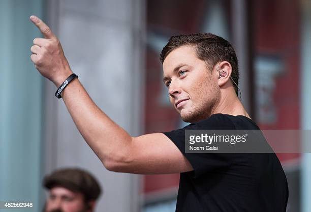 Singer Scotty McCreery performs at the 'FOX Friends' All American Concert Series outside of FOX Studios on July 31 2015 in New York City