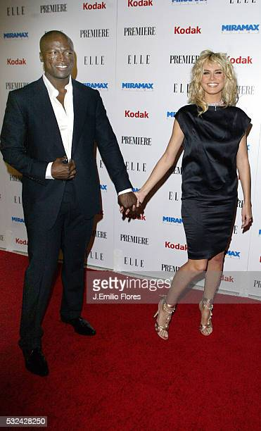 Singer Seal and model Heidi Klum attend the 25th Anniversary Miramax PreOscar Party at the Pacific Design Center