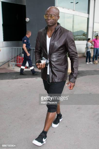 Singer Seal arrives at Nice airport during the 70th annual Cannes Film Festival at on May 22 2017 in Cannes France