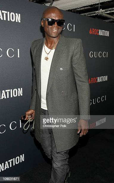 Singer Seal arrives at the Gucci and RocNation PreGRAMMY brunch held at Soho House on February 12 2011 in West Hollywood California