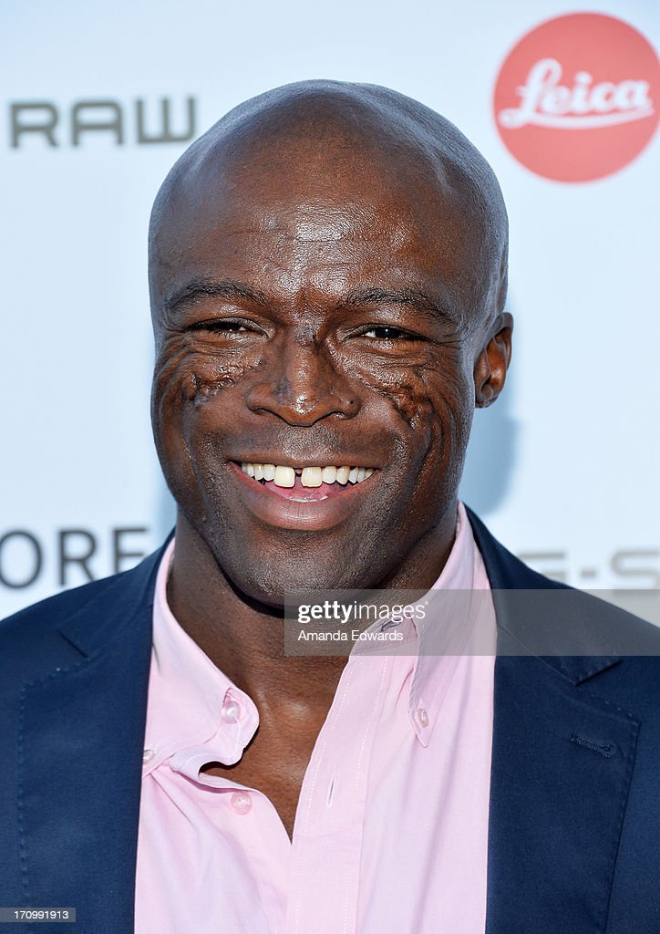 Singer Seal arrives at the Leica Store Los Angeles Grand Opening at Leica on June 20, 2013 in Los Angeles, California.