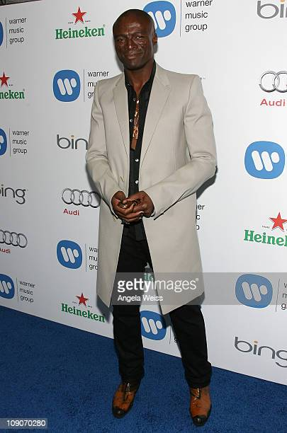 Singer Seal arrives at Warner Music Group's 2011 Post GRAMMY Event at Soho House on February 13 2011 in West Hollywood California