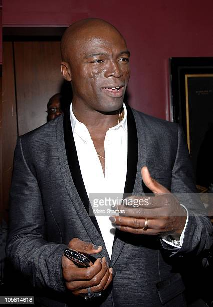 Singer Seal attends the launch of Vertu's smartphone at Berry Hill Galleries on October 20 2010 in New York City