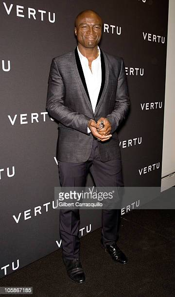 Singer Seal attends the launch of Vertu's smartphone at Berry Hill Galleries on October 20, 2010 in New York City.