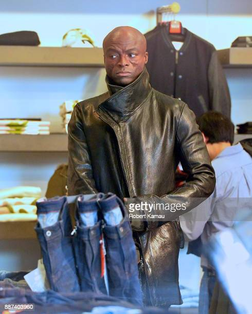 Singer Seal is seen out shopping SoHo on December 6 2017 in New York City