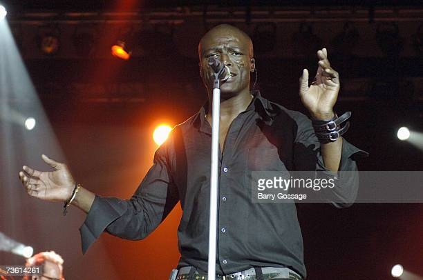 Singer Seal performs at the Suns Stars Gala hosted by the Phoenix Suns on February 10 at JW Desert Ridge Marriott Resort and Spa in Phoenix Arizona...