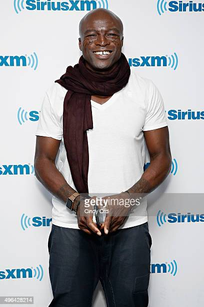 Singer Seal visits the SiriusXM Studios on November 9 2015 in New York City
