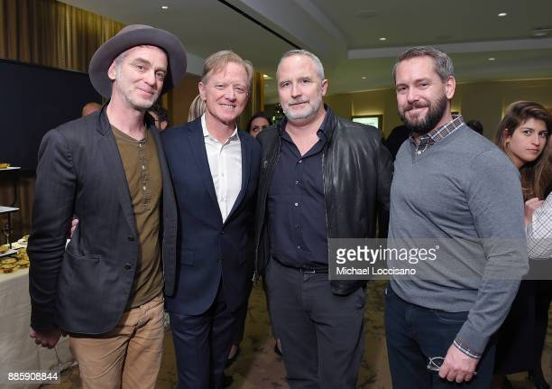 Singer Sean Hayes director James Redford Jeff Dupre and Carter Walker attend the HBO Documentary Films NY Premiere of HAPPENING A CLEAN ENERGY...