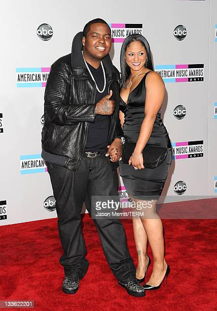 Singer Sean Kingston and Maliah Michel arrive at the 2011 American Music Awards held at Nokia Theatre LA LIVE on November 20 2011 in Los Angeles...