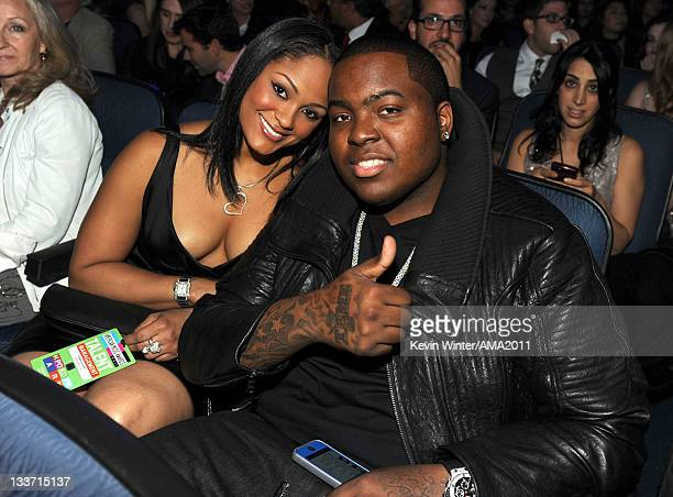 Singer Sean Kingston and Maliah Michel at the 2011 American Music Awards held at Nokia Theatre LA LIVE on November 20 2011 in Los Angeles California