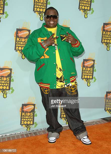 Singer Sean Kingston arrives at Nickelodeon's 2008 Kids' Choice Awards at the Pauley Pavilion on March 29 2008 in Los Angeles California