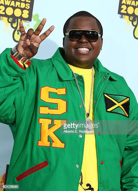 Singer Sean Kingston arrives at Nickelodeon's 2008 Kids' Choice Awards held at UCLA's Pauley Pavilion on March 29 2008 in Westwood California