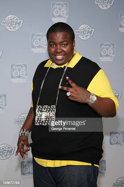 Singer Sean Kingston poses for press at the 19th Annual MuchMusic Video Awards on June 15 2008 at Chum/City Building in Toronto Canada