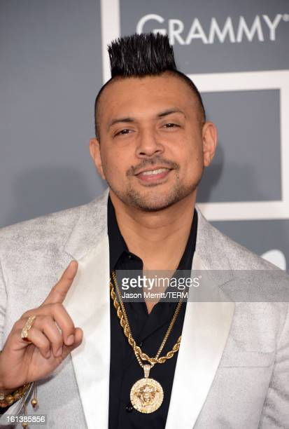 Singer Sean Paul arrives at the 55th Annual GRAMMY Awards at Staples Center on February 10 2013 in Los Angeles California