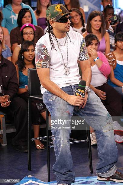 Singer Sean Paul visits MuchOnDemand for a live interview at the City TV/Chum Building on July 10 2008 in Toronto Canada