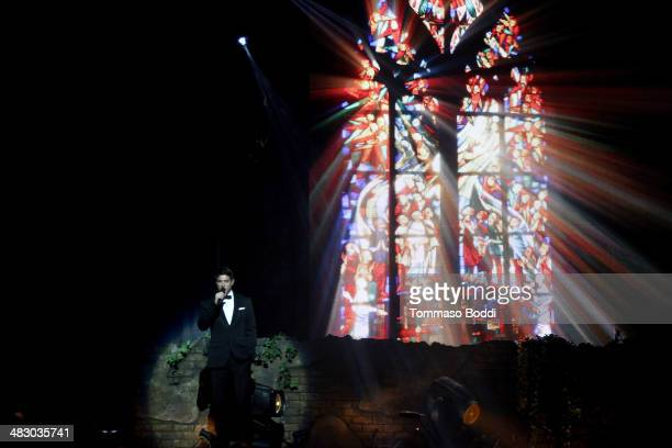 Singer Sebastien Izambard of Il Divo performs at the Dolby Theatre on April 5, 2014 in Hollywood, California.