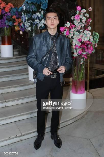 Singer Sehun attends the Berluti Menswear Fall/Winter 20202021 show as part of Paris Fashion Week at Opera Garnier on January 17 2020 in Paris France