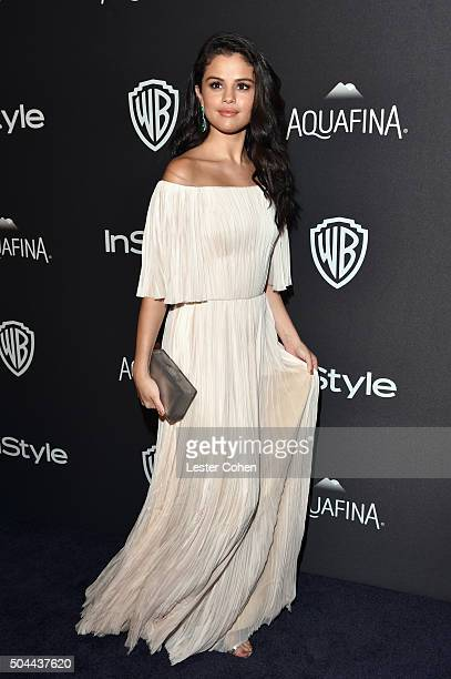 Singer Selena Gomez attends InStyle and Warner Bros. 73rd Annual Golden Globe Awards Post-Party at The Beverly Hilton Hotel on January 10, 2016 in...