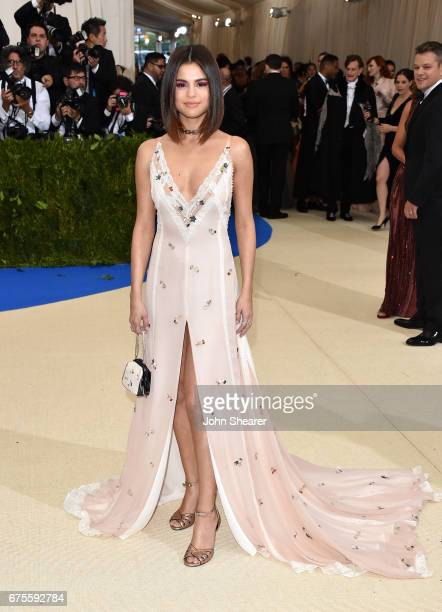 Singer Selena Gomez attends 'Rei Kawakubo/Comme des Garcons Art Of The InBetween' Costume Institute Gala at Metropolitan Museum of Art on May 1 2017...
