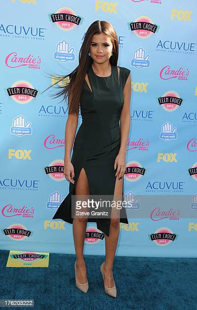 Singer Selena Gomez attends the 2013 Teen Choice Awards at Gibson Amphitheatre on August 11 2013 in Universal City California