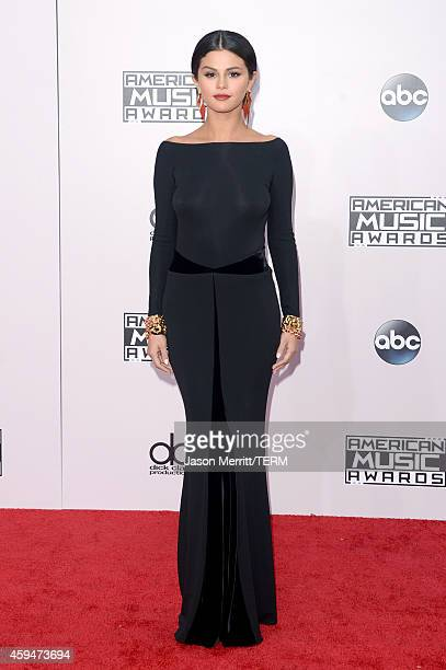 Singer Selena Gomez attends the 2014 American Music Awards at Nokia Theatre LA Live on November 23 2014 in Los Angeles California