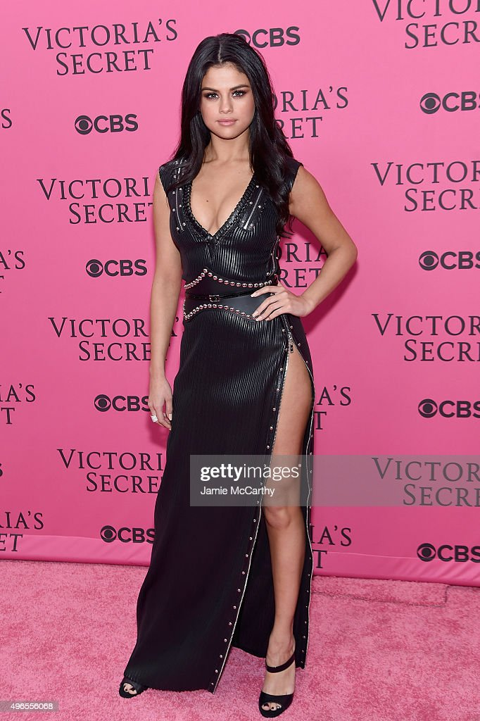 Singer Selena Gomez attends the 2015 Victoria's Secret Fashion Show at Lexington Avenue Armory on November 10, 2015 in New York City.
