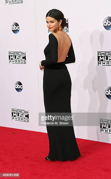 Singer Selena Gomez attends the 42nd Annual American Music Awards at the Nokia Theatre LA Live on November 23 2014 in Los Angeles California