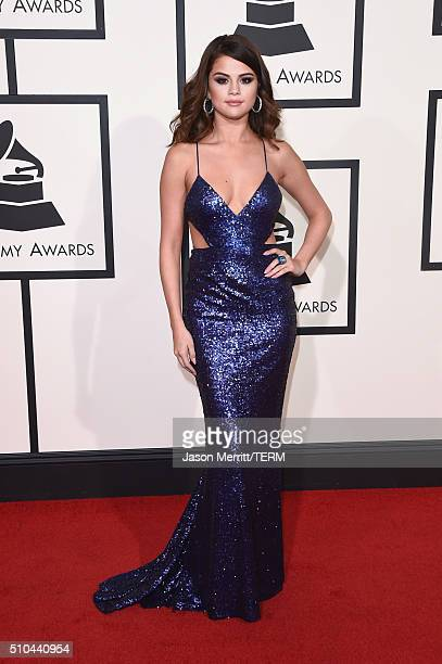 Singer Selena Gomez attends The 58th GRAMMY Awards at Staples Center on February 15 2016 in Los Angeles California
