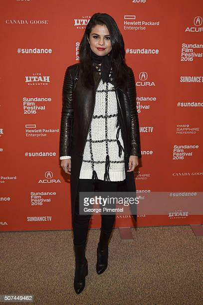Singer Selena Gomez attends 'The Fundamentals Of Caring' Premiere during the 2016 Sundance Film Festival at Eccles Center Theatre on January 29 2016...