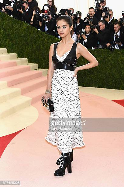 Singer Selena Gomez attends the 'Manus x Machina Fashion In An Age Of Technology' Costume Institute Gala at Metropolitan Museum of Art on May 2 2016...