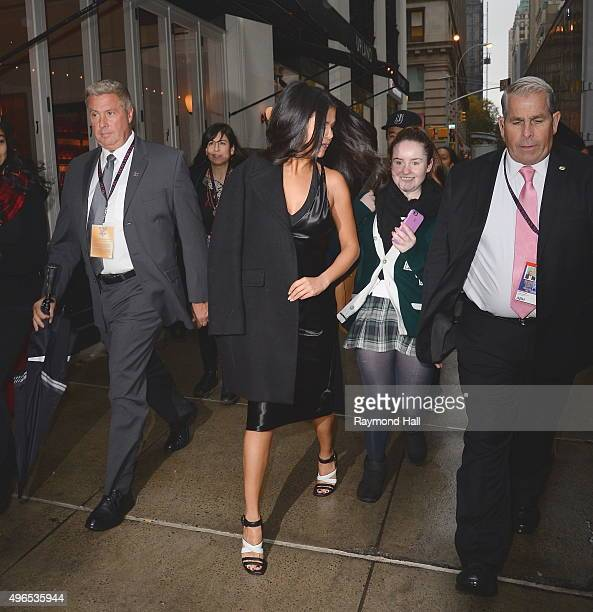 Singer Selena Gomez is seen arriving at the 'Victoria's Secret Fashion Show' on November 10 2015 in New York City