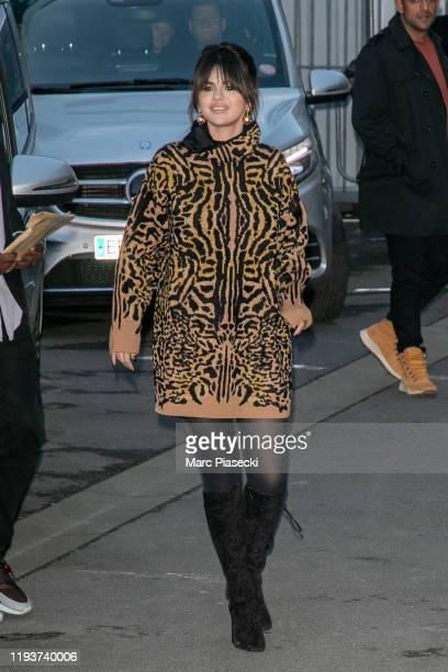 Singer Selena Gomez is seen at NRJ radio station on December 13 2019 in Paris France