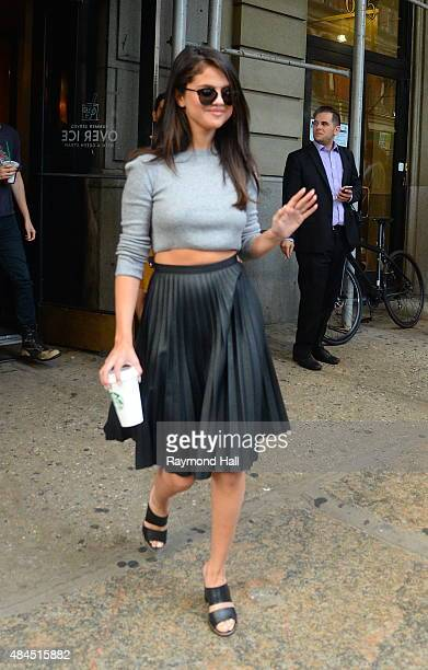 Singer Selena Gomez is seen in Soho on August 19 2015 in New York City