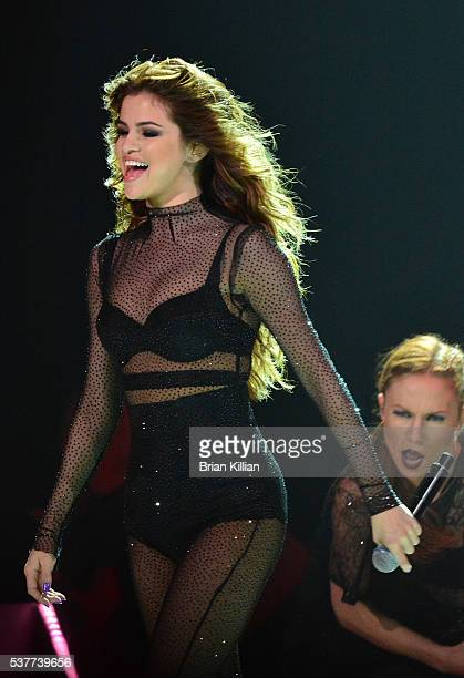 Singer Selena Gomez performs at The Prudential Center on June 2 2016 in Newark New Jersey