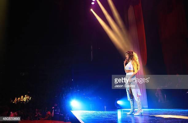 Singer Selena Gomez performs in concert at Sprint Center on November 17 2013 in Kansas City Missouri