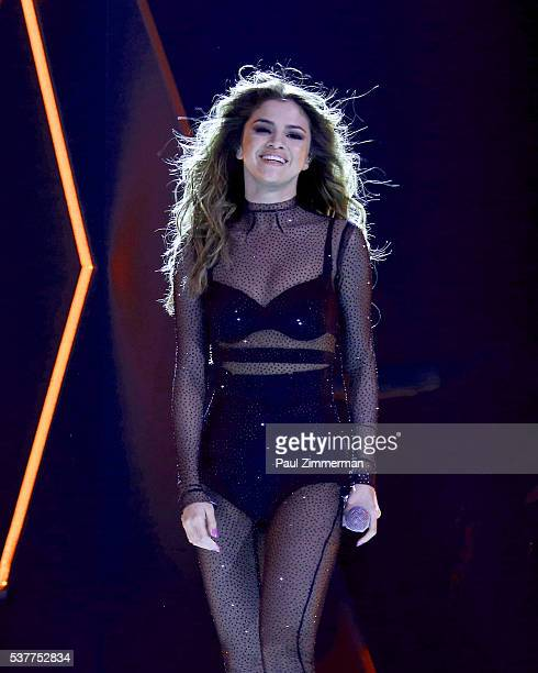 Singer Selena Gomez performs onstage at the Prudential Center on June 2 2016 in Newark New Jersey