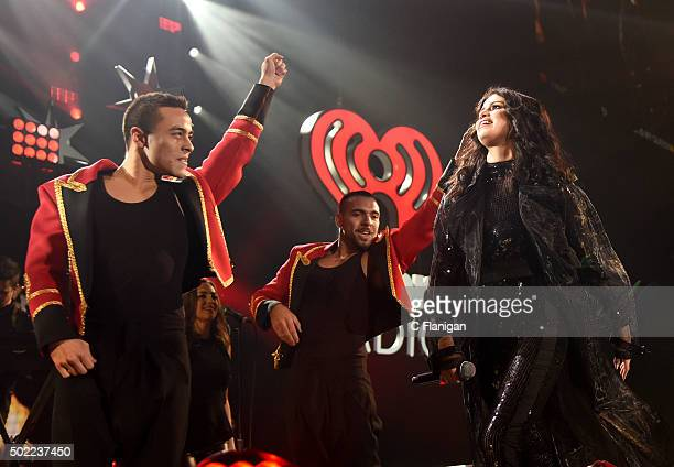 Singer Selena Gomez performs onstage during 1035 KISS FM's Jingle Ball 2015 presented by Capital One at Allstate Arena on December 16 2015 in Chicago...