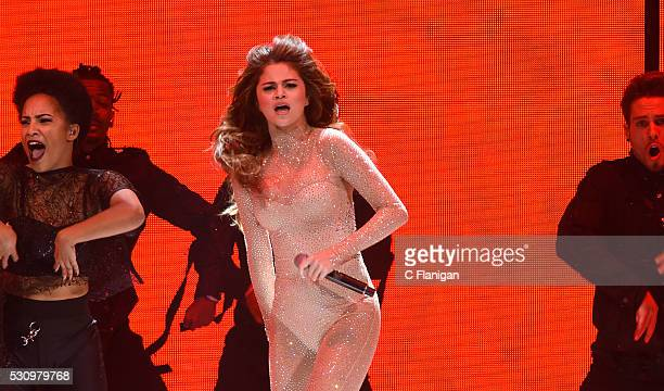 Singer Selena Gomez performs onstage during her 'Revival' tour at SAP Center on May 11 2016 in San Jose California