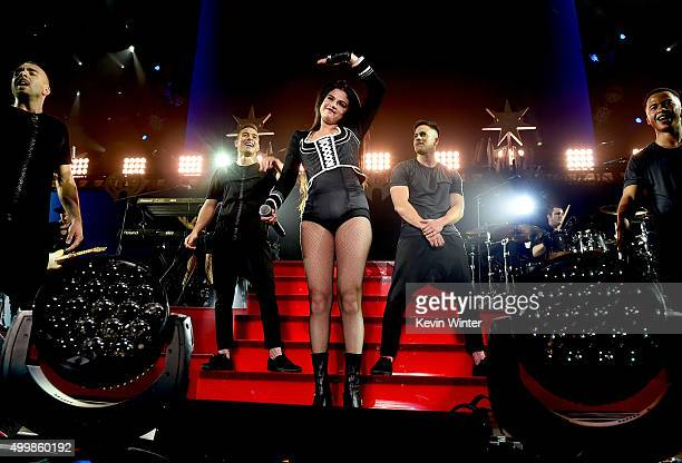 Singer Selena Gomez performs onstage during WiLD 949's FM's Jingle Ball 2015 presented by Capital One at ORACLE Arena on December 3 2015 in Oakland...