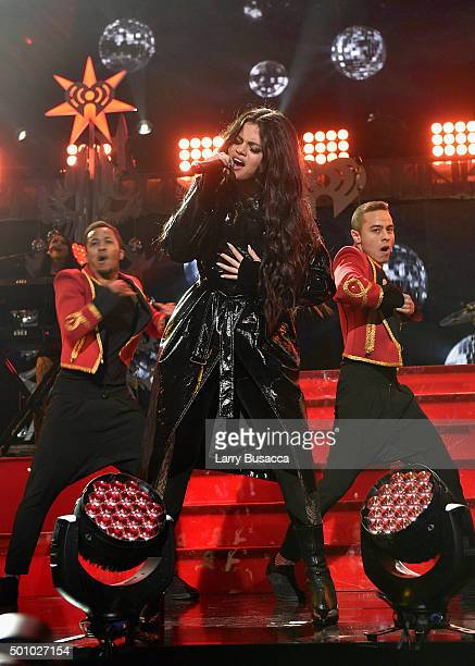 Singer Selena Gomez performs onstage during Z100's Jingle Ball 2015 at Madison Square Garden on December 11 2015 in New York City