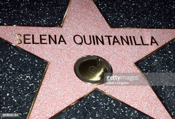 Singer Selena Quintanilla is honored posthumously with a Star on the Hollywood Walk of Fame on November 3 2017 in Hollywood California