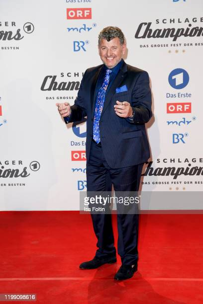 Singer Semino Rossi during the television show Schlagerchampions Das grosse Fest der Besten at Velodrom on January 11 2020 in Berlin Germany