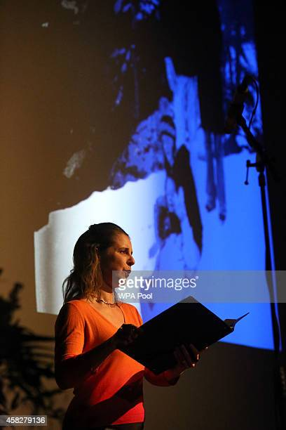 Singer Serena Kay performs during a public memorial service in memory of murdered schoolgirl Alice Gross held at Greenford Town Hall on November 2...