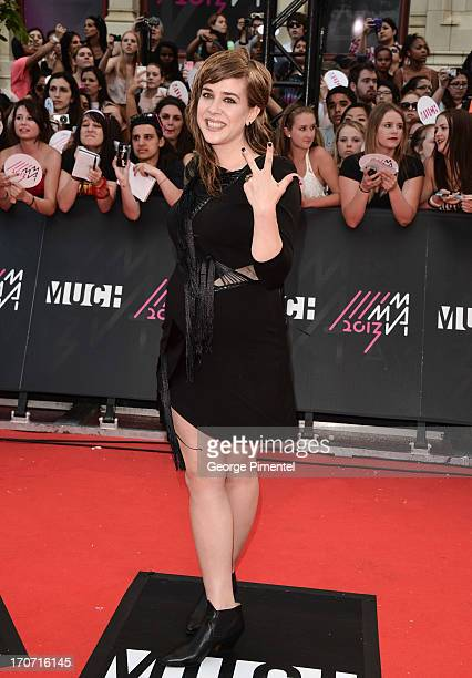 Singer Serena Ryder arrives at the 2013 MuchMusic Video Awards at MuchMusic HQ on June 16 2013 in Toronto Canada