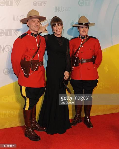 Singer Serena Ryder on the Red Carpet at the 2013 Juno Awards held at the Brandt Centre on April 21 2013 in Regina Canada
