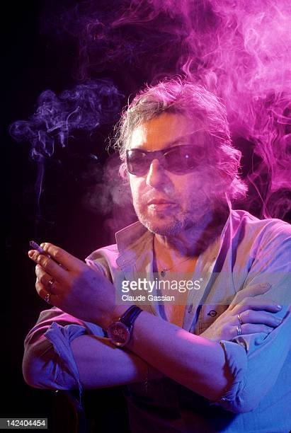 Singer Serge Gainsbourg is photographed for Self Assignment on October 10 1987 in Levallois France