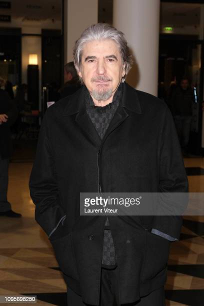 Singer Serge Lama attends N°5 de Chollet at Salle Pleyel on January 17 2019 in Paris France
