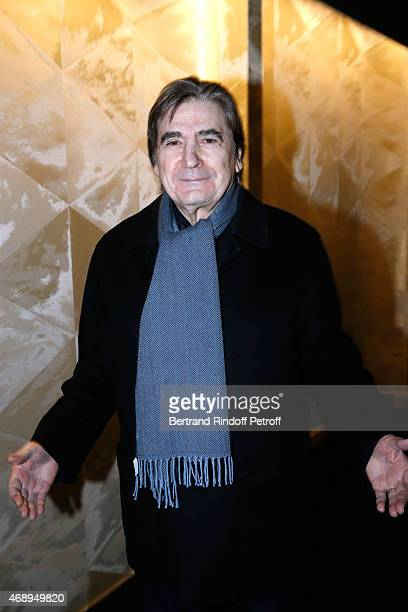 Singer Serge Lama attends the 'Paris Merveilles' Lido New Revue Opening Gala on April 8 2015 in Paris France